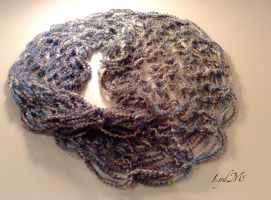 Arm Knitting Quartz Homespun Infinity Scarf by LydMc