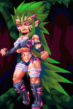 Green buff girl or something (More in my patreon) by The-Jackbowser