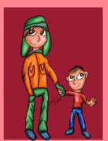 Kyle and Ike by arielthealien