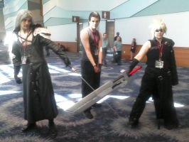 Sephiroth, Zack, and Cloud by Mizu-Ookami-chan