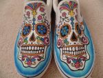 Sugar Skull Shoes by BreannaKayEvans
