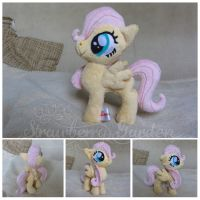 filly Fluttershy plush by Spark-Strudel