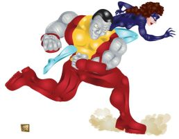 Colossus and Kitty by g-technical