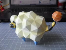 Papercraft - Mareep 02 by ckry