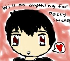 Will do ANYTHING for Pocky sticks by AsktheShyIzaya