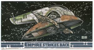 SLAVE ONE Sketch Card - ESB WV by Erik-Maell