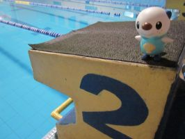 Oshawott, the swimmer by InsideMySight