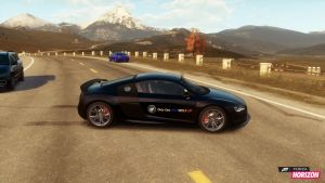 My logo on my R8 in forza, it's art? by RTOneBlueWolf