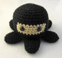 Black Ninjapus Amigurumi by egyptianruin