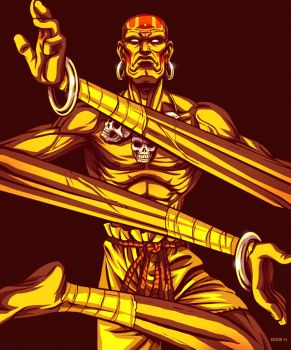 Dhalsim Street Fighter by EddieHolly