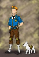 Steampunk Tintin by JesIdres