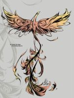 Phoenix tattoo by Little-Endian
