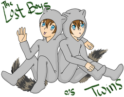 The lost boys: Raccoon twins by Butterfinger-Sharpie