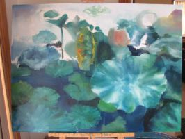 WIP waterlillies by GeorgeLiao