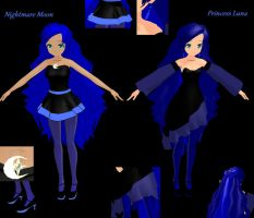 Nightmare Moon / Princess Luna MMD Model by GirlAnimePrincess