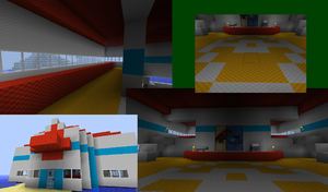Minecraft Pokemon Center WIP by Stickfiguresrule321