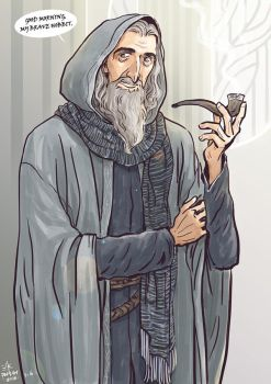 Christopher Lee as Gandalf by Cocoz42