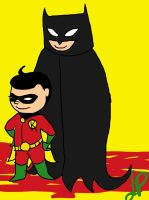 Robin And Batman by Cheliseville