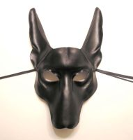 Black Jackal Leather Mask 2 by teonova