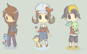 HGSS Chibis by TheQuietDummy