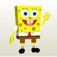 Spongebob papercraft by LordBruco