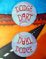 Dodge in the Desert. Traditional by Lou-in-Canada