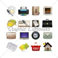 online business icons by kingofvectors