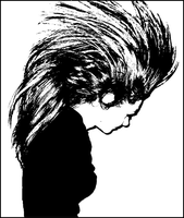 Her Hair Stencil by Guazdka