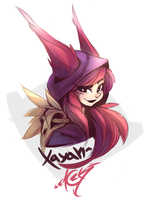 Xayah [league of legends] by ZackArgunov