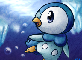 Piplup by FENNEKlNS