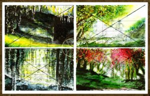 FOUR BACKGROUNDS by severeene