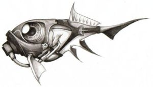 Daily Sketch v049 - Gasfish 2 by IndustrusDesign