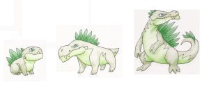 GRASS STARTERS - Plant Dinosaurs by MetalReaper