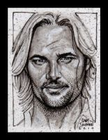 Sawyer: LOST sketch card art by G-Ship