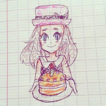 Serena with a cake by z0123