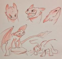 Toothless Sketches by kilala97
