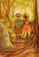 Fairy Couple for Weaving Coloured by RobynRose