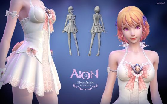 Aion Elyos 3d fan art model details by haikai13