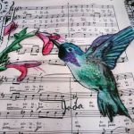 Green and Purple Hummingbird by JadasArtVision