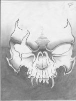 Demon skull by uberemo453