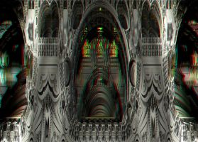 Castle at Night Stereo by DDDPhoto