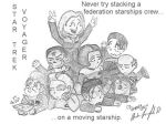 Voyager Crew In a Pile by massadiabolus