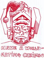 Happy Galactus Christmas - Sharpie by GeeMassamArt