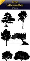 Tree Silhouettes by manicobe