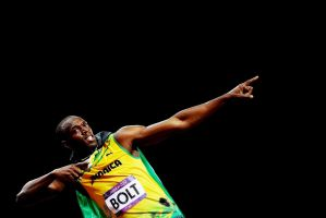 Usain Bolt Victory Pose High Contrast by timdallinger