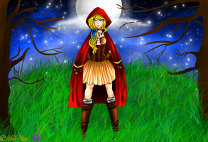 Ruby Red riding hood by SketchyRainBow