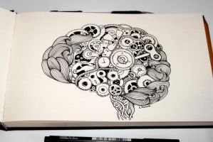 doodled brain by MunnbeL
