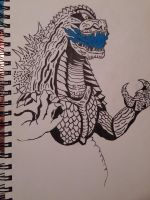 My new Godzilla piece. Wip. by Shin-Ben