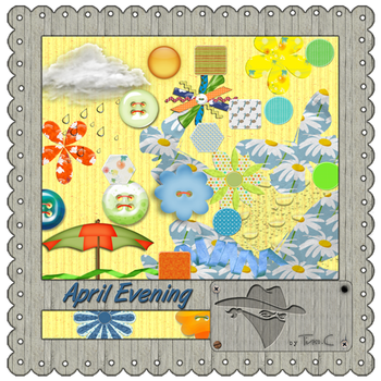 April Evening elements by MyLittleArtLife