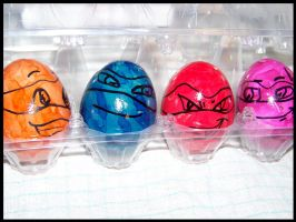 TMNT Eggs 2 by T-i-g-g